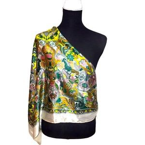 3/$20 H&M Extra Large Multicolored Printed Scarf